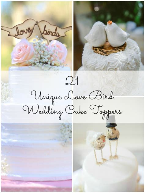 21 unique bird wedding cake toppers