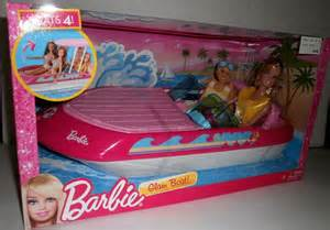 barbie boat toy new barbie glam boat w blond doll hot pink toy speedboat