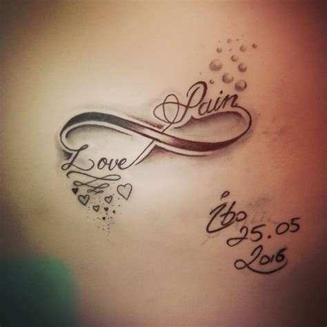 tattoo unendlichkeitszeichen family infinity sign by tattoo by ibo tattoo pinterest