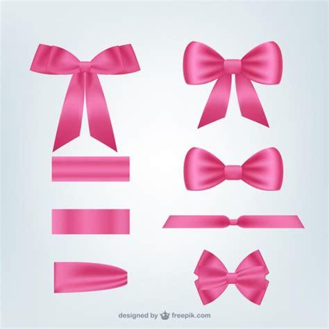 Pink Ribbon And Ribbon pink ribbons pack vector free