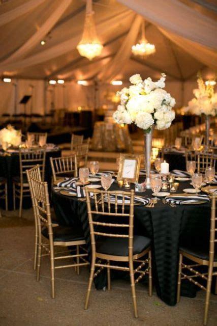 37 super elegant black and gold wedding ideas
