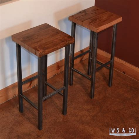 Modern Barns Bar Stool 30 Quot Reclaimed Wood Amp Metal Legs Aftcra