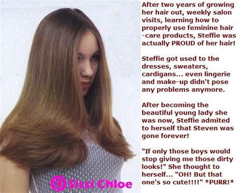 caption for haircut picture sissy steffie has entered the part tg captions hair and