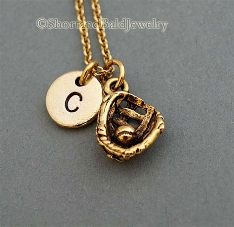 baseball glove necklace softball necklace by