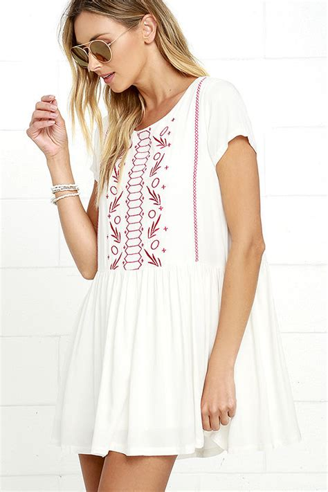 Babydoll Embroidery ivory dress babydoll dress embroidered dress 54 00