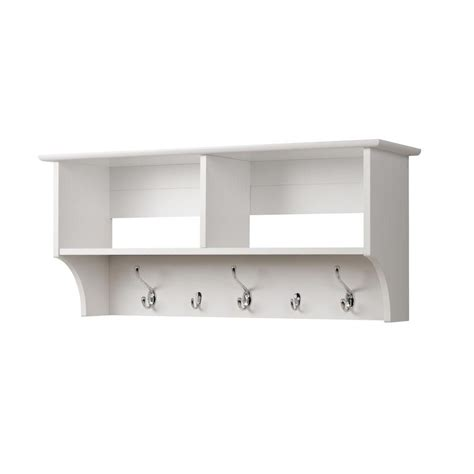 entryway shelves prepac white 36 inch wide hanging entryway shelf the home depot canada