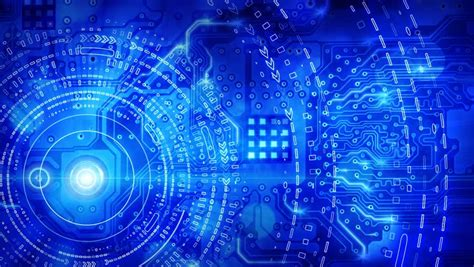 design lop keren blue computer circuit board background loop stock footage