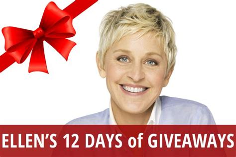 What Is Ellen S 12 Days Of Giveaways - follow recapo s ellen s 12 days of giveaways board ellen s 12 days of giveaways