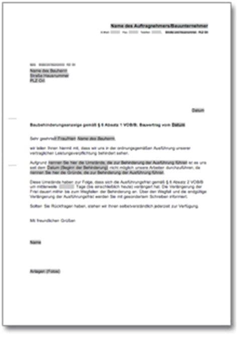 Musterbrief Eidesstattliche Versicherung Baubehinderungsanzeige De Musterbrief