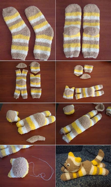 diy cute sock kitten icreatived