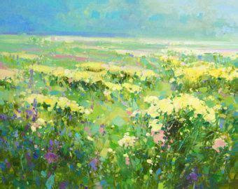 paesaggi di fiori co di estate paesaggio fiori pittura a olio