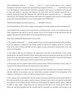 Sle Contract Letter For Security Services 11 Security Contract Templates Free Word Pdf Format Free Premium Templates