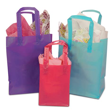 colored plastic bags frosted shopping bags