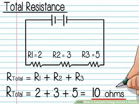 how to calculate voltage across resistors in series how to calculate voltage across a resistor with pictures