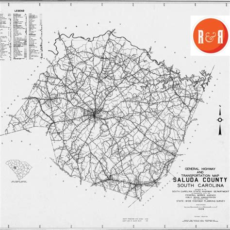 Chester County Section 8 by Saluda Co Scdot Maps