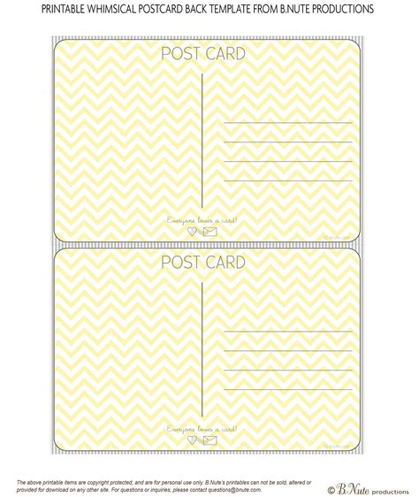 printable postcard template bnute productions scrapbook paper ideas