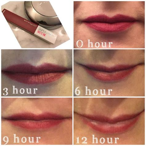 Naked9 Matte Lipgloss 24h hourly photos and review for maybelline superstay matte