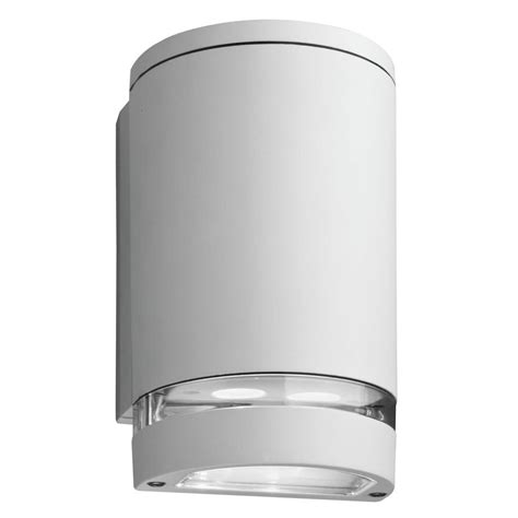 Outdoor Lighting Downlights Lithonia Lighting Wall Mount Outdoor White Led Wall Cylinder Downlight Ollwd Wh M6 The Home Depot