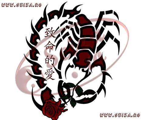 scorpion rose tattoo designs tribal scorpion