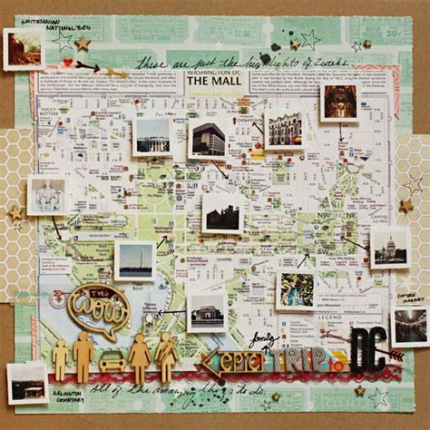 scrapbook layout maps family trip in a map diy scrapbooking pinterest