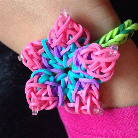 hibiscus flower rainbow loom custom color hibiscus