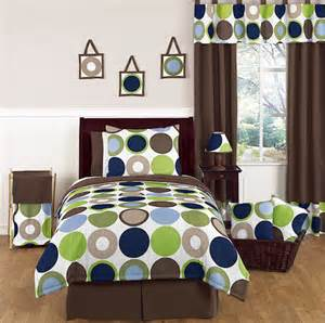 polka dot girls bedding modern polka dot circle geometric blue brown bedding full
