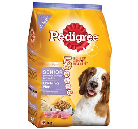 rice for dogs pedigree chicken rice for senior 3 kg dogspot pet supply store