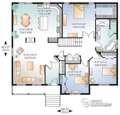 plan maison plein pied 4 chambres 1000 ideas about plan maison plain pied on