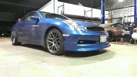 infiniti g35 front lip type v poly front lip g35 coupe outcast garage