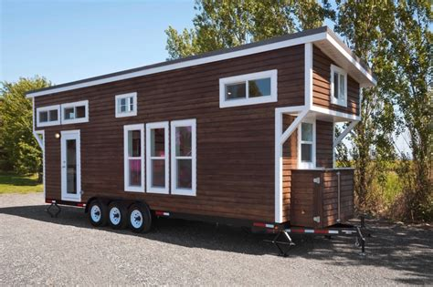 metal tiny house metal framed 28 tiny house on wheels by mint tiny homes