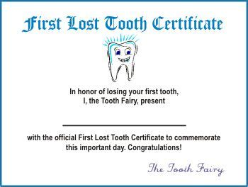 certification letter of lost lost tooth certificate maybe i can print this