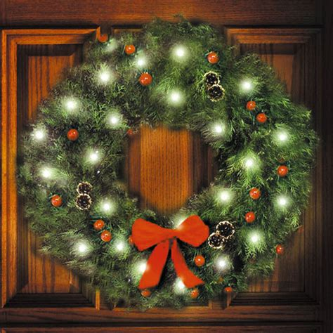 solar christmas wreath lights model ga 111c