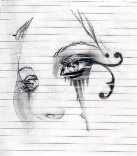 imagenes para dibujar tristes de amor dibujos de ojos tristes a lapiz imagui