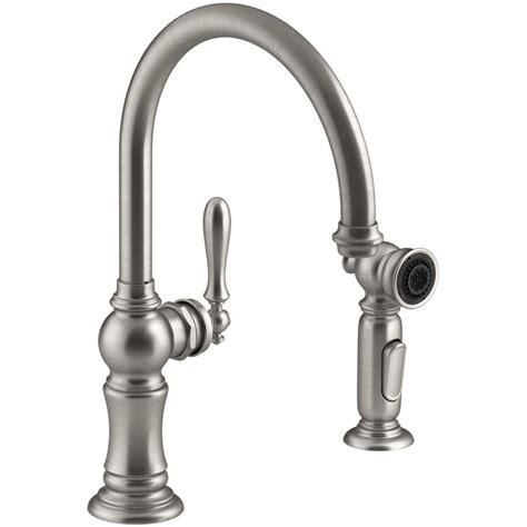 high arc kitchen faucet reviews shop kohler artifacts vibrant stainless 1 handle high arc