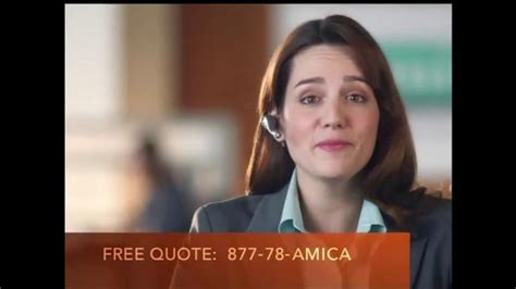 insurance commercial actress amica mutual insurance company tv commercial all of the