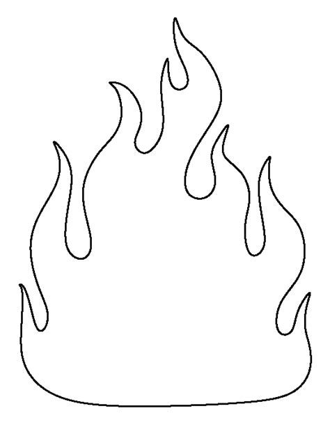 Fire Pattern Use The Printable Outline For Crafts Coloring Pages Of Flames