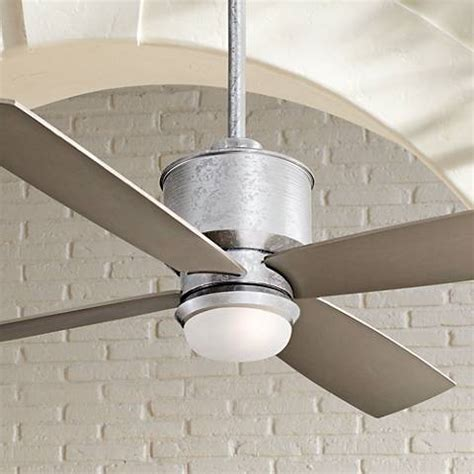 galvanized metal ceiling fan 52 quot minka aire strata galvanized ceiling fan with light