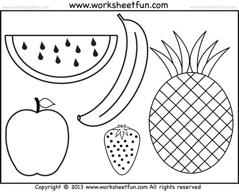 worksheets for preschool fruits fruits coloring and tracing 4 preschool worksheets