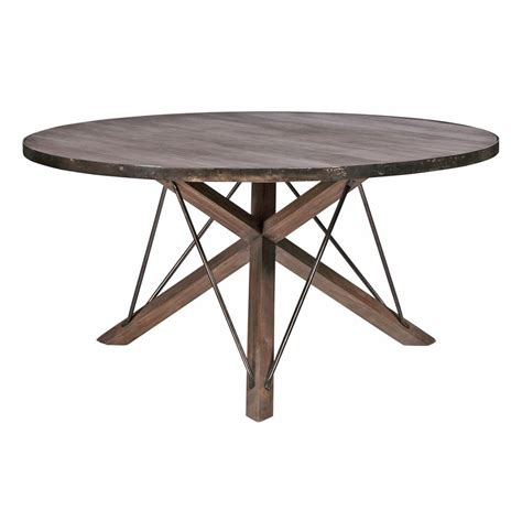 Industrial Modern Dining Table Works Industrial Loft Wood Iron Modern Rustic Dining Table 59 Quot D