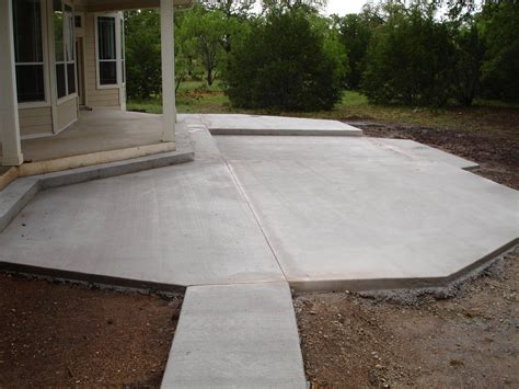 White Concrete Patio Slabs Modern Patio Outdoor Concrete Backyard Patio