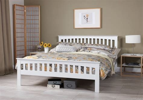 white wooden bed serene amelia 5ft kingsize white wooden bed frame by