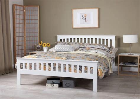 serene amelia ft kingsize white wooden bed frame  serene furnishings