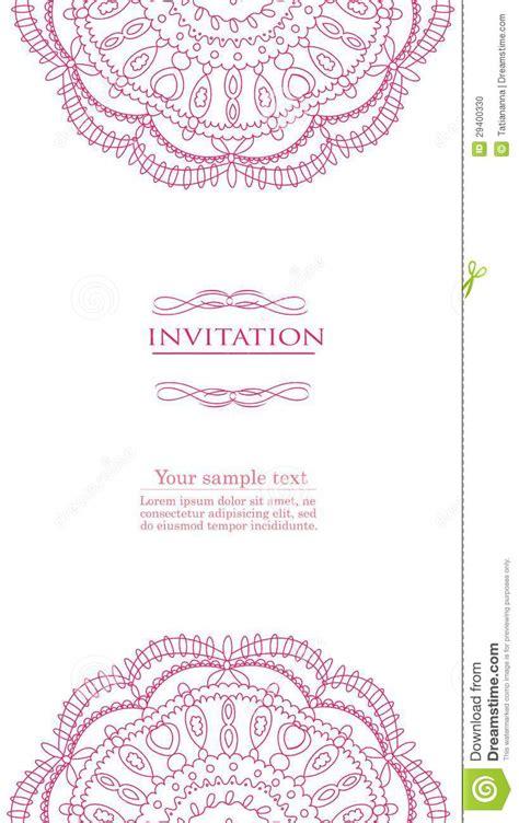 invitation card design vector vintage background for invitation card vector stock vector