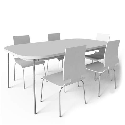 ikea table and chairs cad and bim object grimle table and 5 chairs ikea