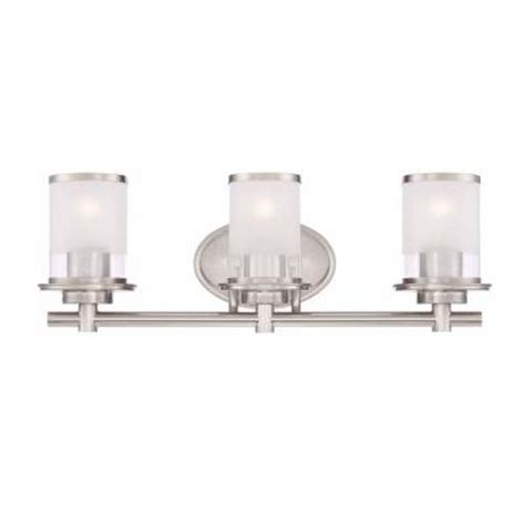 bathroom bar lights brushed nickel hton bay 3 light brushed nickel bath bar light with