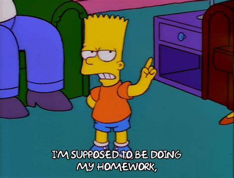 homework homer simpson bart simpson gif find  gifer