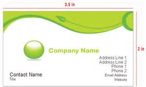 standard business card measurements business card size and other aspects of a business card