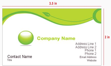 standard business card size template business card size us standard