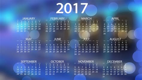 Calendar Background Images 2017 Calendar Wallpapers Hd Wallpapers