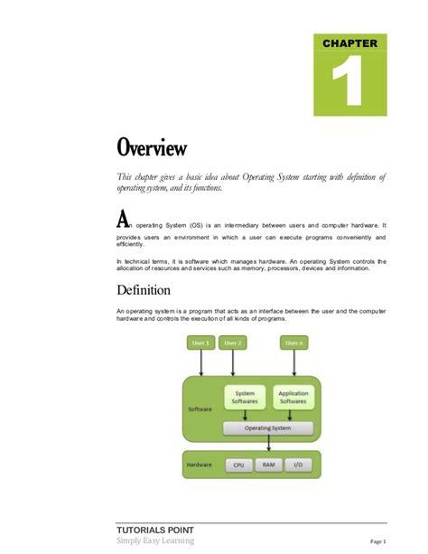 tutorialspoint kernel operating system tutorial